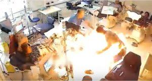 فيديو - رجل يحرق المرضى أحياء في المستشفى
